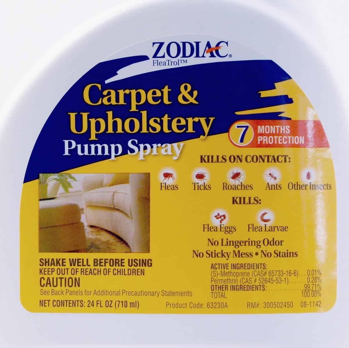 Zodiac Carpet Amp Upholstery Spray 24 Oz Pump Cannot Ship