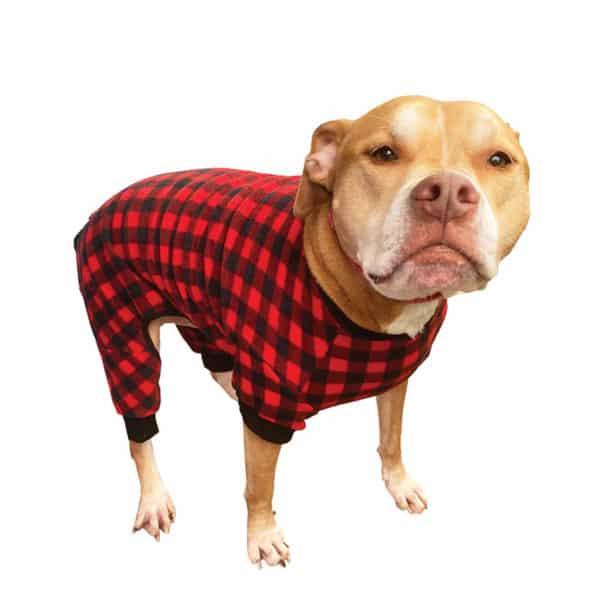 fashion-pet-buffalo-plaid-fleece-pajamas